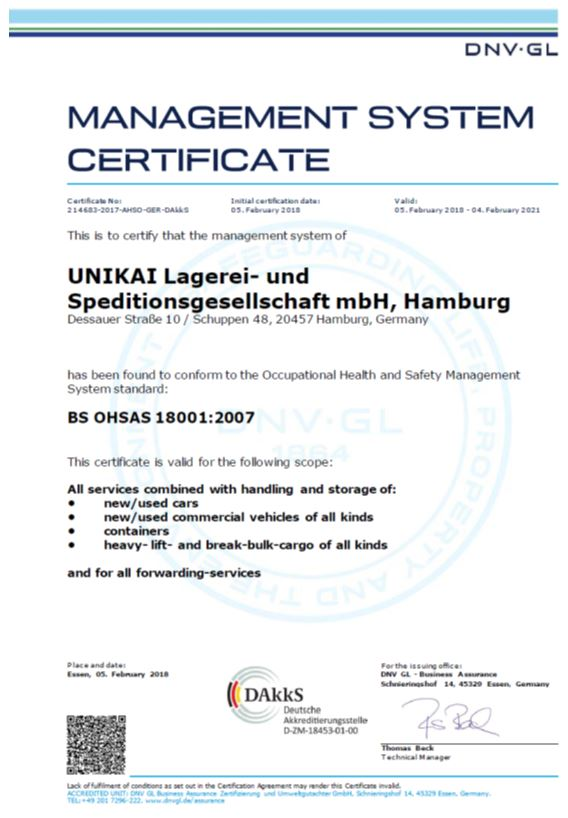 Work safety certificate
